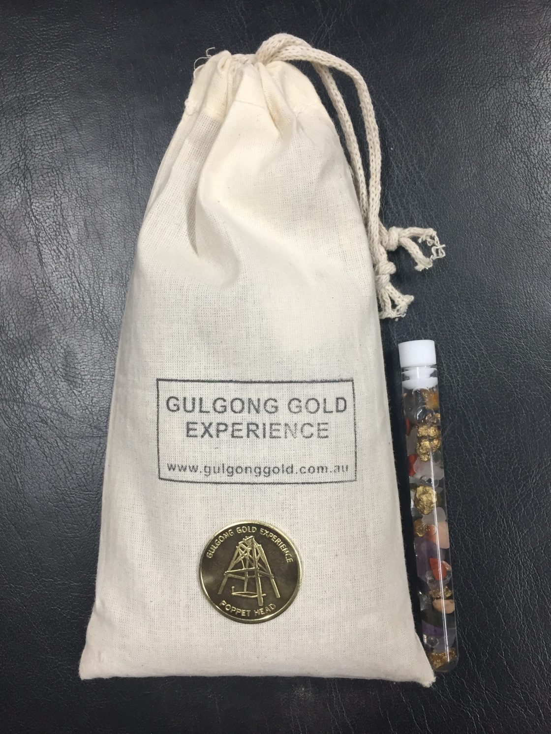 Calico Bag Gem mix and plastic vial